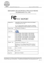 Test report FCC